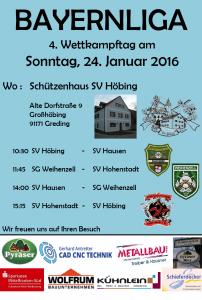 Bayernligaheimwettkampf 24.01.2016